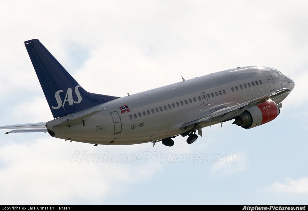 SAS - Scandinavian Airlines LN-BUG aircraft at Bodø