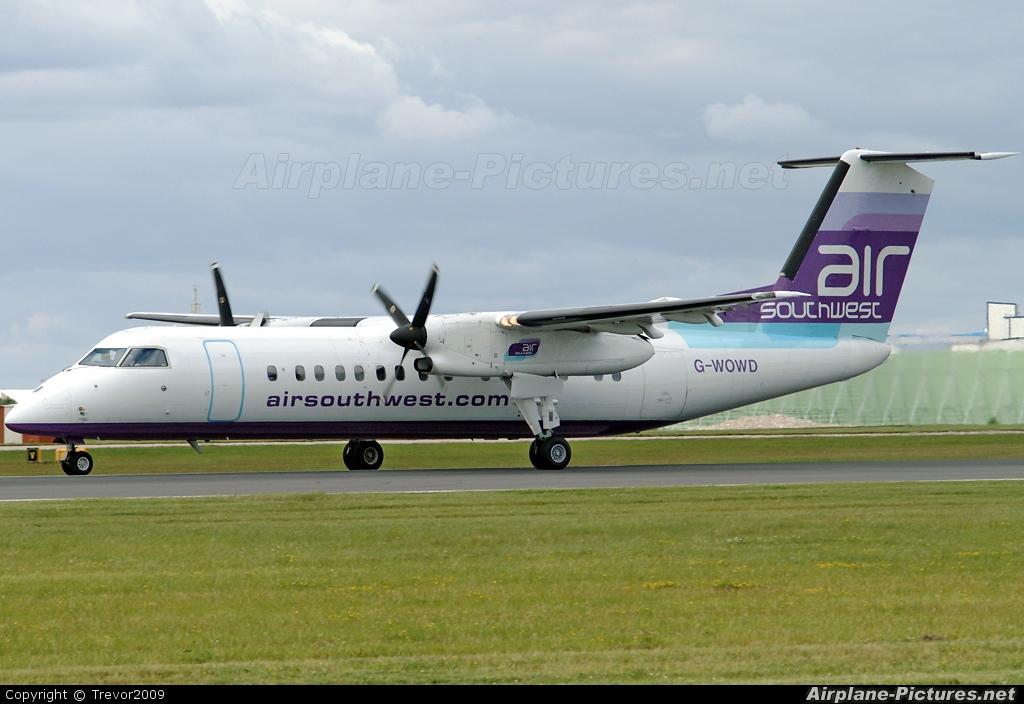 Air Southwest G-WOWD aircraft at Manchester