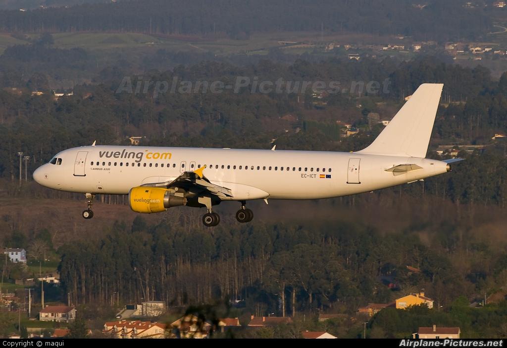 Vueling Airlines EC-ICT aircraft at La Coruña