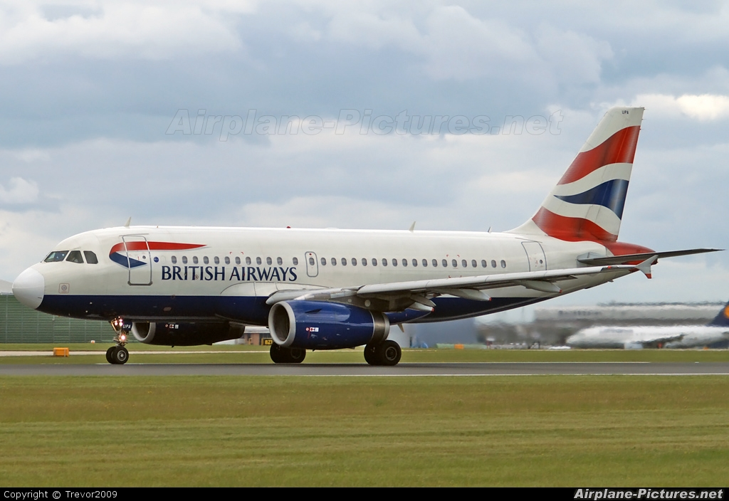 British Airways G-EUPA aircraft at Manchester