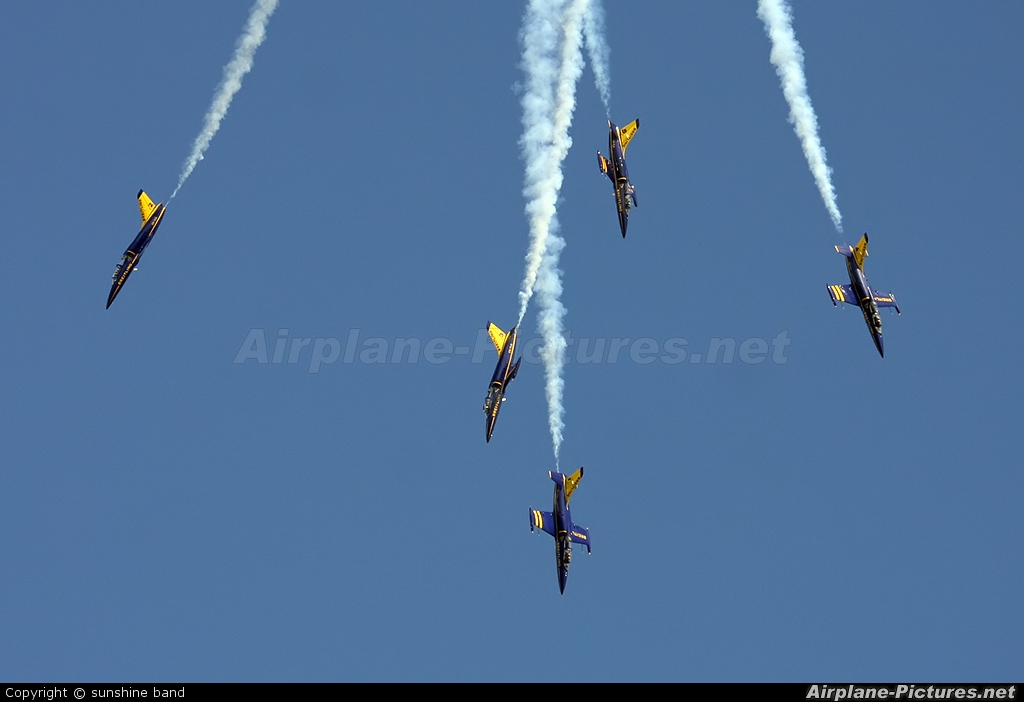 Breitling Jet Team ES-YLX aircraft at Waddington