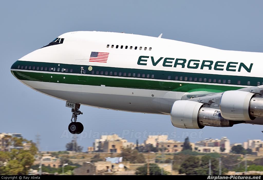 Evergreen International N486EV aircraft at Malta Intl