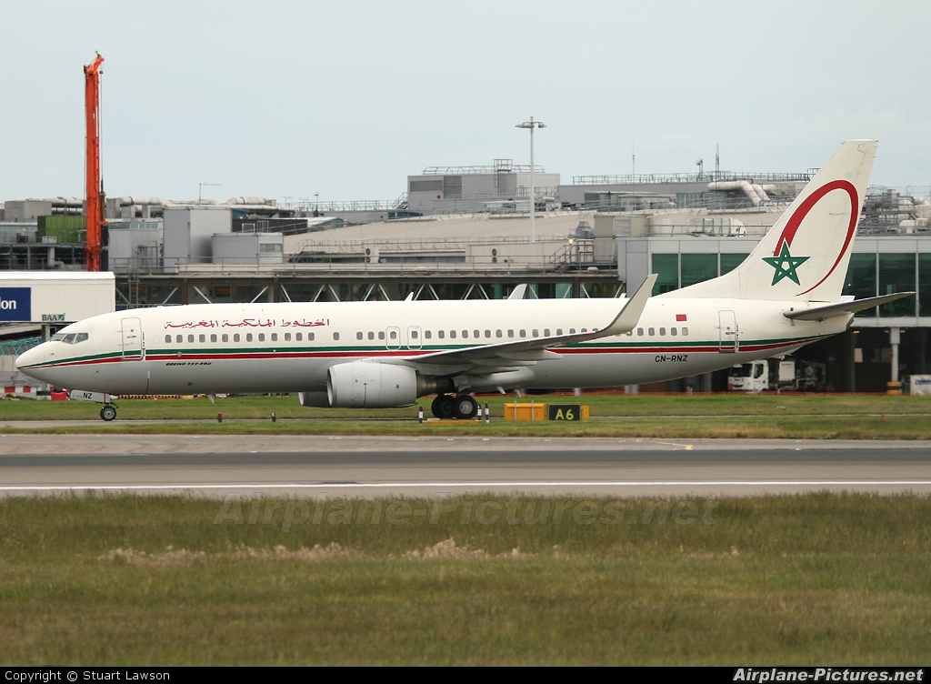 Royal Air Maroc CN-RNZ aircraft at London - Heathrow