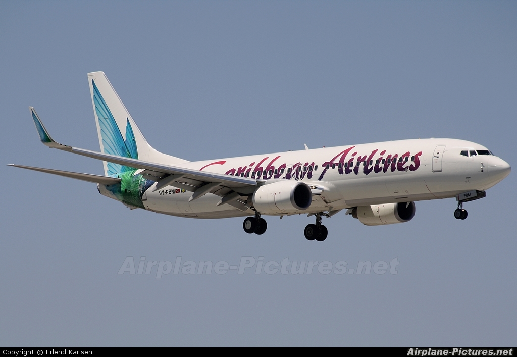 Caribbean Airlines  9Y-PBM aircraft at Miami Intl