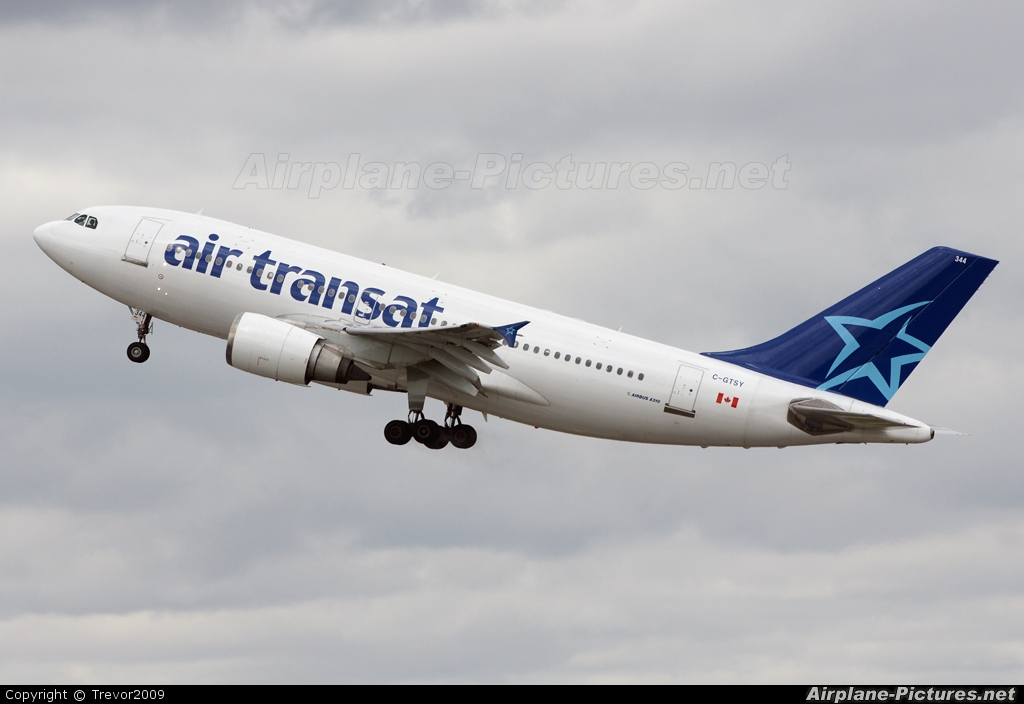 c gtsy air transat airbus a310 at manchester photo id 86836 airplane pictures net