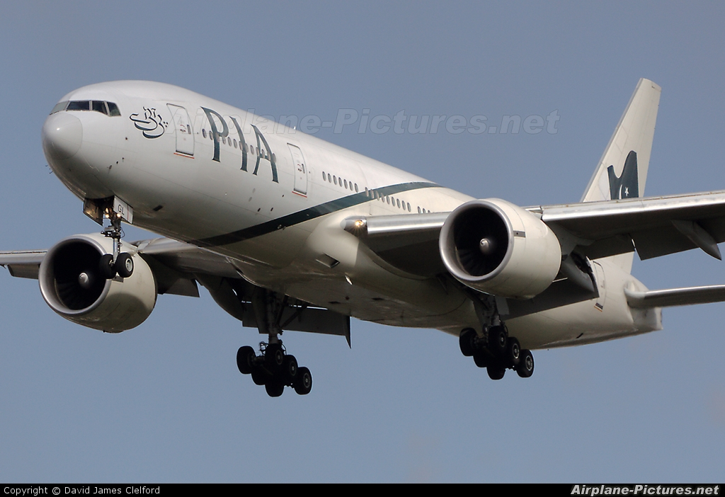 PIA - Pakistan International Airlines AP-BGL aircraft at London - Heathrow