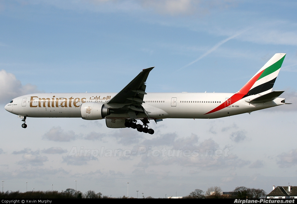 Emirates Airlines A6-EBS aircraft at Manchester