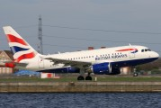 G-EUNA - British Airways Airbus A318 aircraft