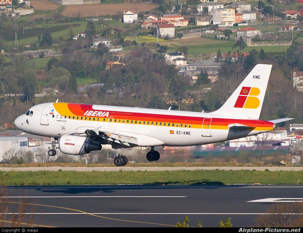 Iberia EC-KME aircraft at La Coruña