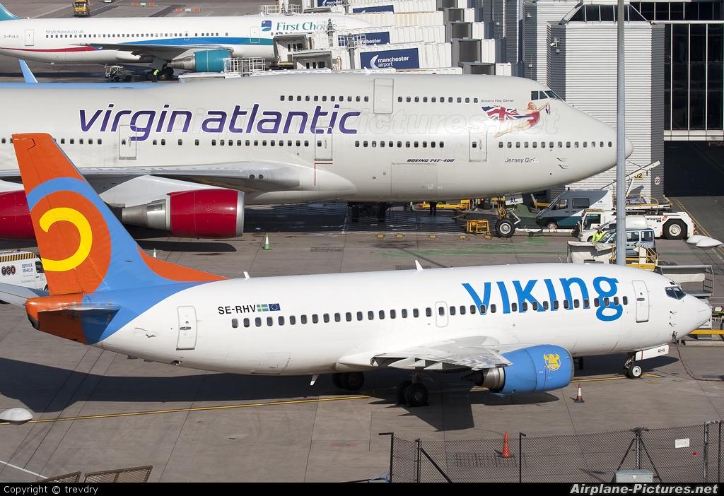 Viking Airlines SE-RHV aircraft at Manchester