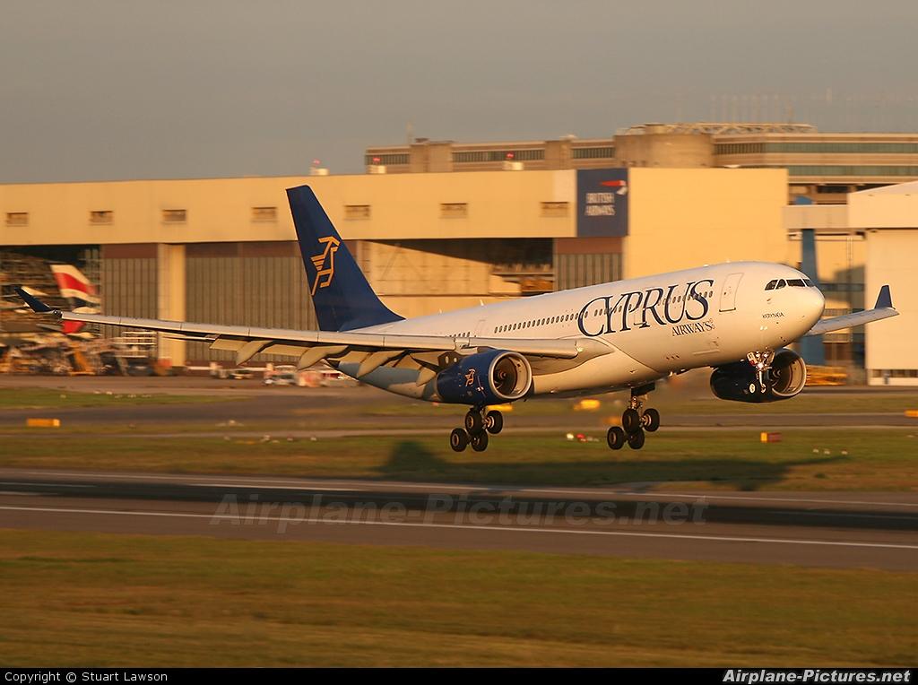 Cyprus Airways 5B-DBT aircraft at London - Heathrow