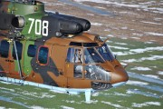 708 - Bulgaria - Air Force Aerospatiale AS532 Cougar aircraft