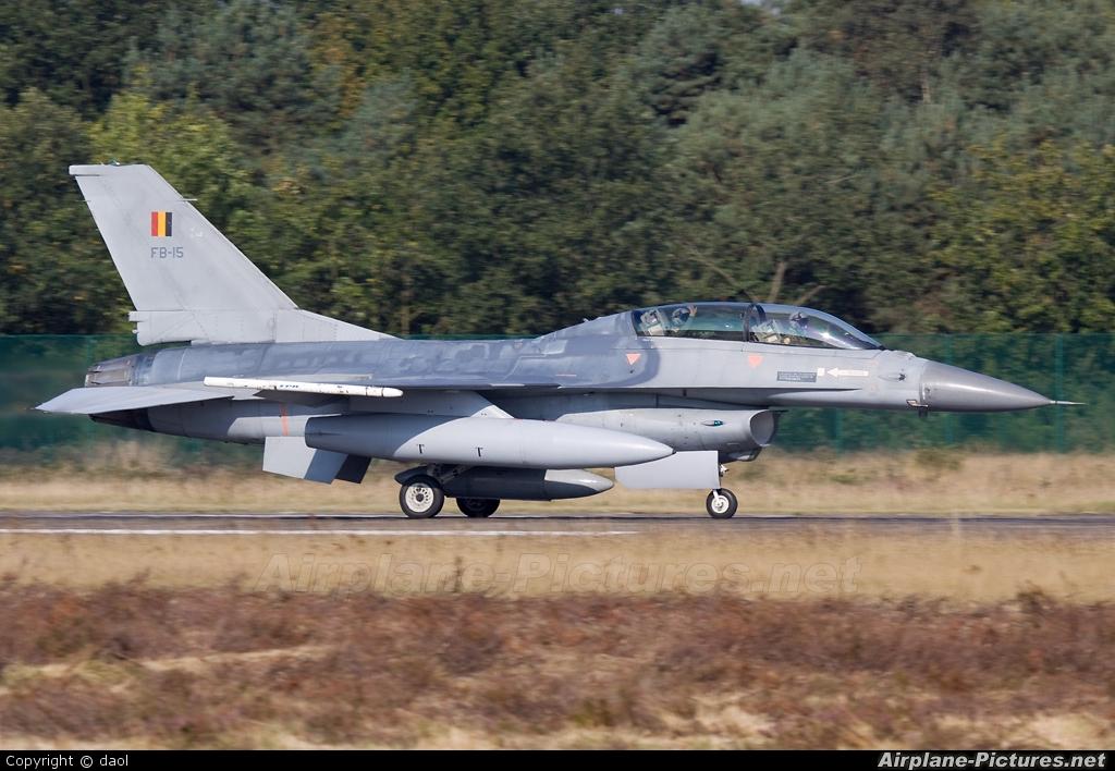 Belgium - Air Force FB-15 aircraft at Kleine Brogel