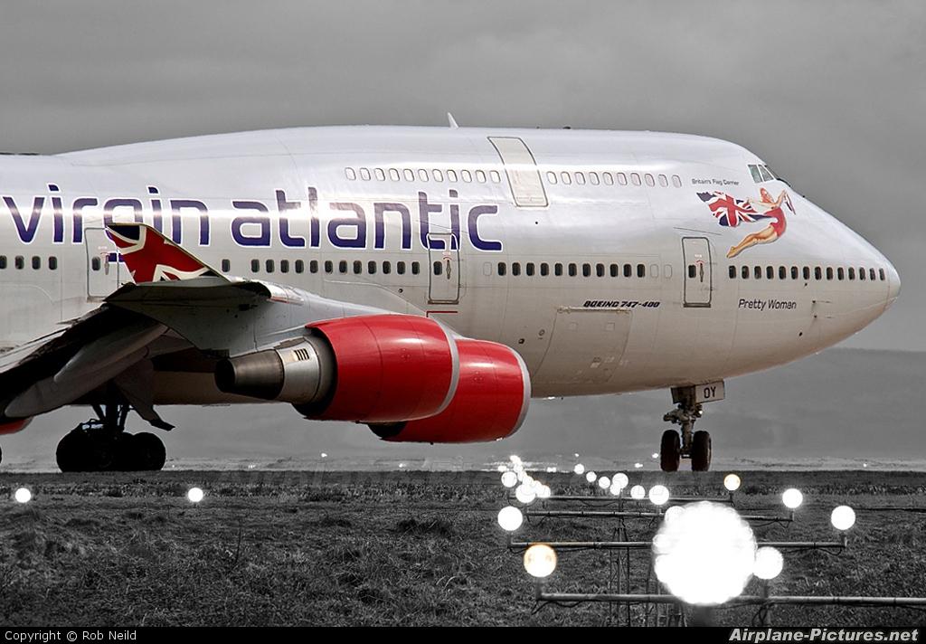 Virgin Atlantic G-VROY aircraft at Manchester