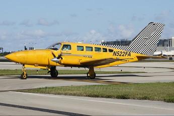 N522FA - Yellow Air Taxi Cessna 402C