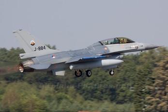 J-884 - Netherlands - Air Force General Dynamics F-16B Fighting Falcon