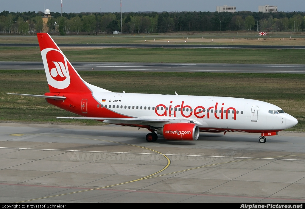 Air Berlin D-AGEN aircraft at Berlin - Tegel