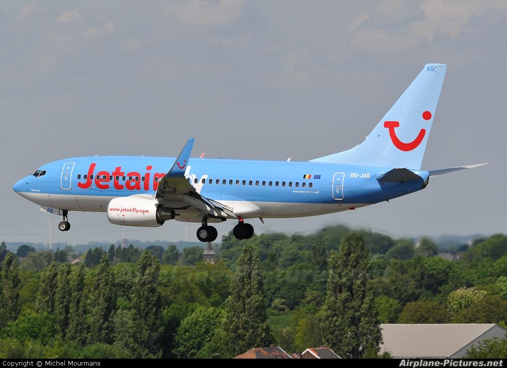 Jetairfly (TUI Airlines Belgium) OO-JAS aircraft at Liège-Bierset