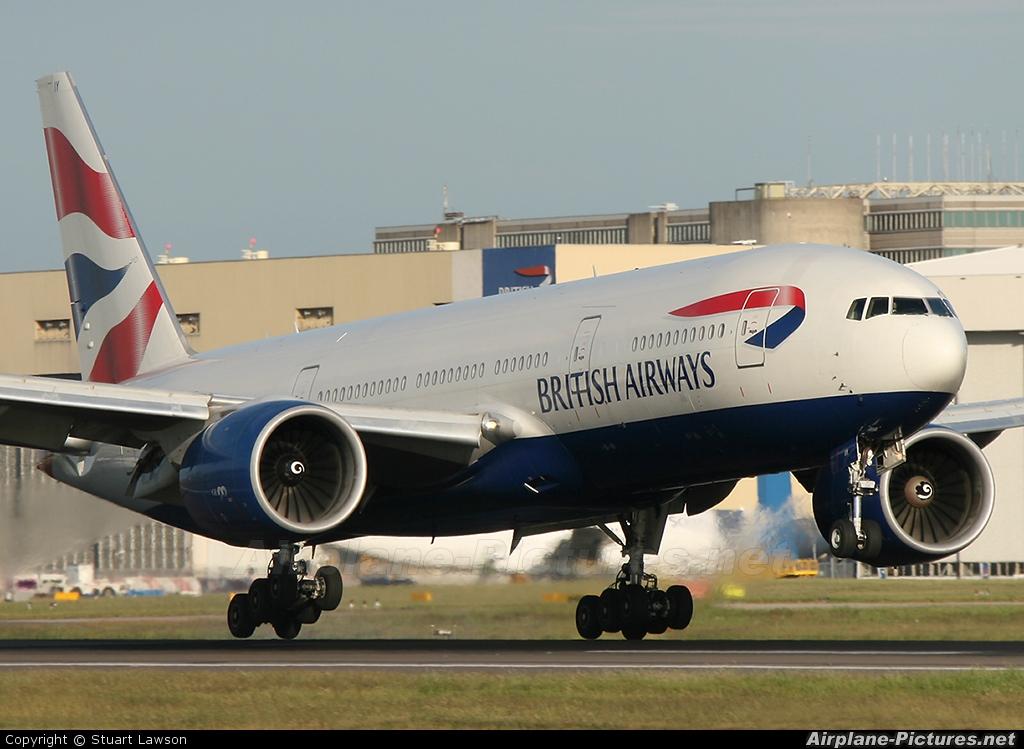 British Airways G-VIIY aircraft at London - Heathrow