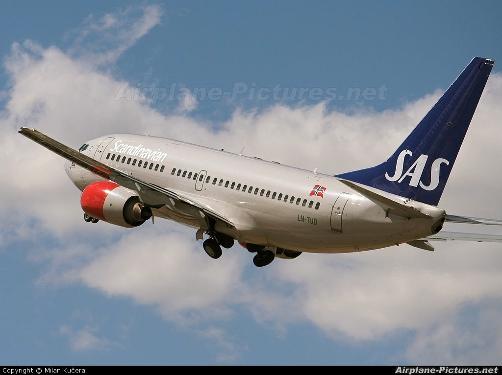 SAS - Scandinavian Airlines LN-TUD aircraft at Alicante - El Altet