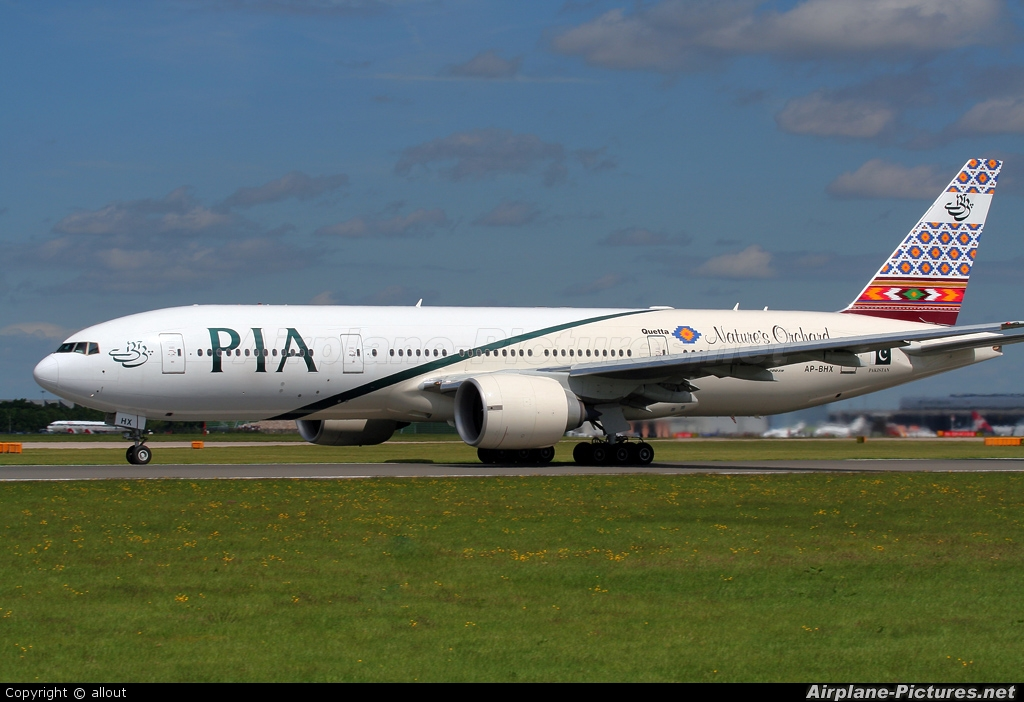PIA - Pakistan International Airlines AP-BHX aircraft at Manchester