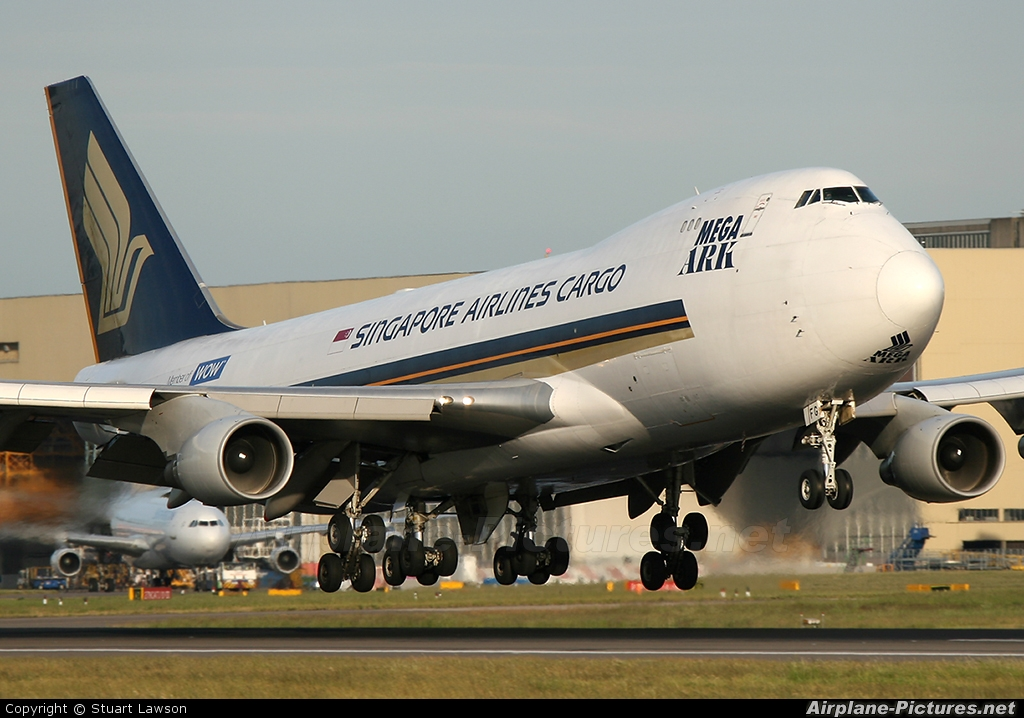 Singapore Airlines Cargo 9V-SFG aircraft at London - Heathrow