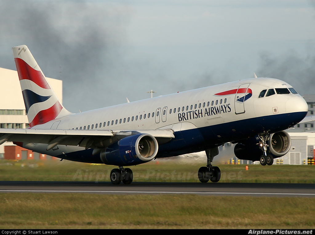 British Airways G-EUUB aircraft at London - Heathrow