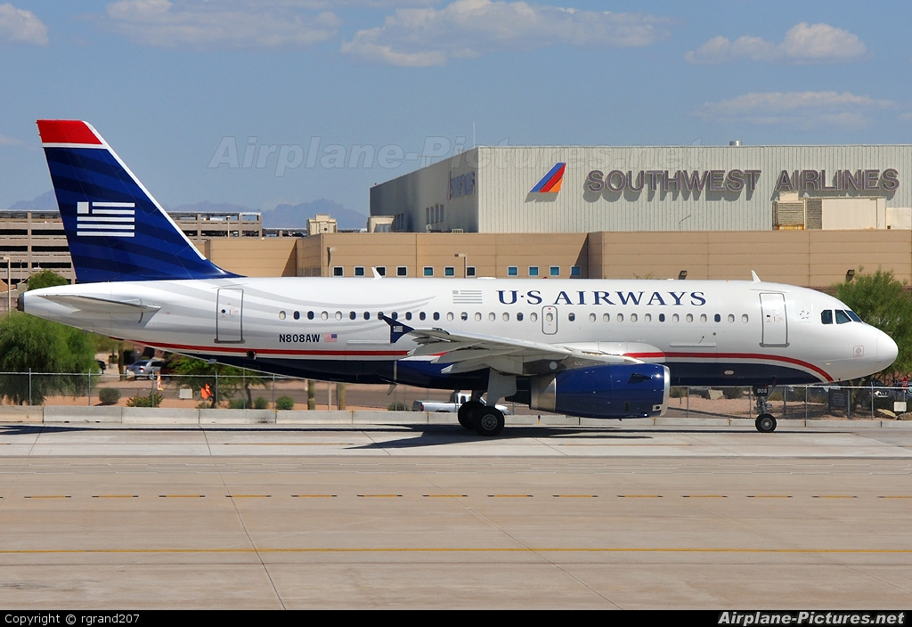 US Airways N808AW aircraft at Phoenix - Sky Harbor Intl
