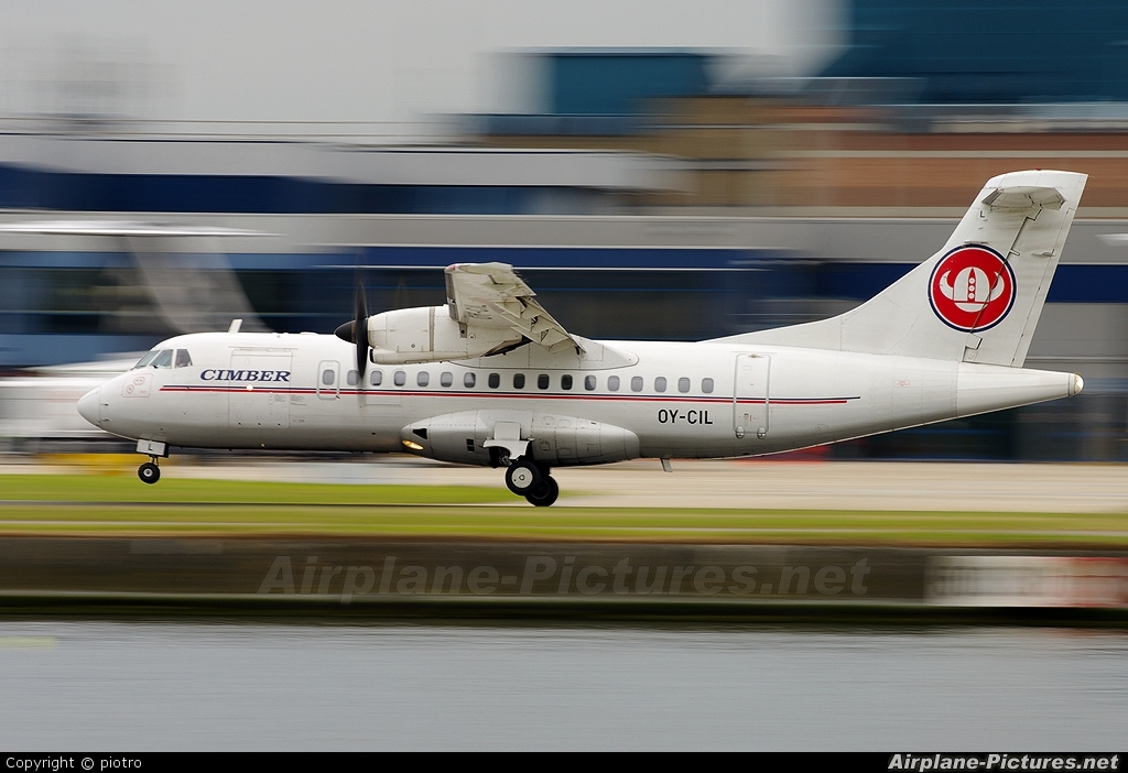 Cimber Air OY-CIL aircraft at London - City