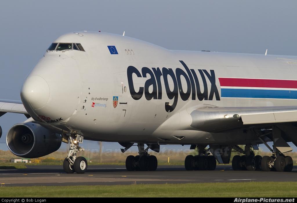 Cargolux LX-VCV aircraft at Prestwick