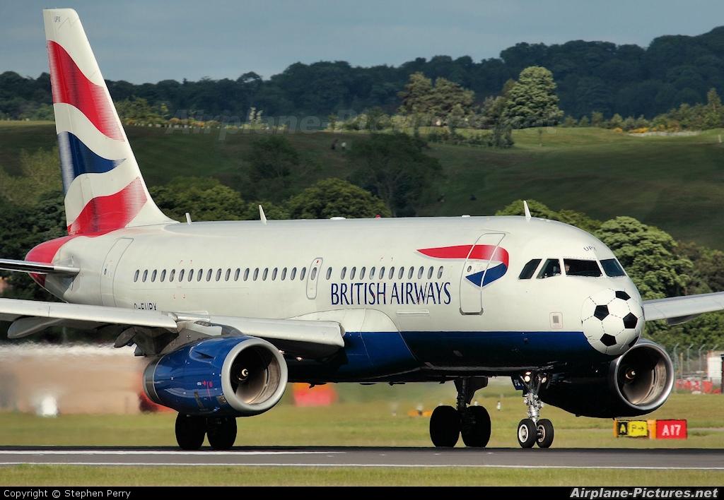 British Airways G-EUPX aircraft at Edinburgh