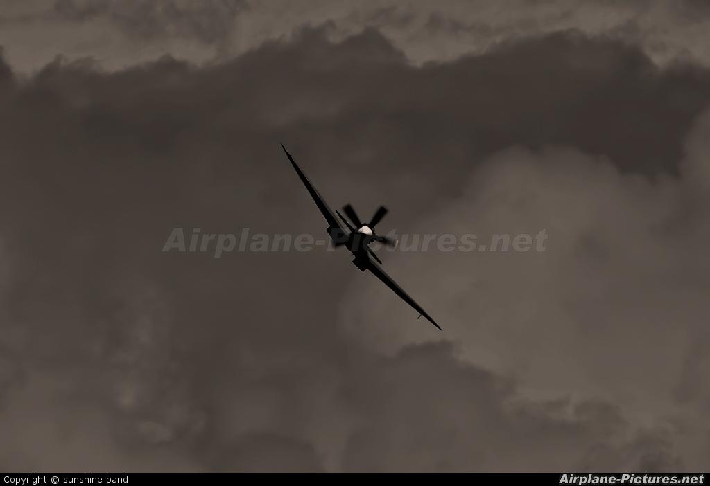 """Royal Air Force """"Battle of Britain Memorial Flight"""" PS915 aircraft at Waddington"""