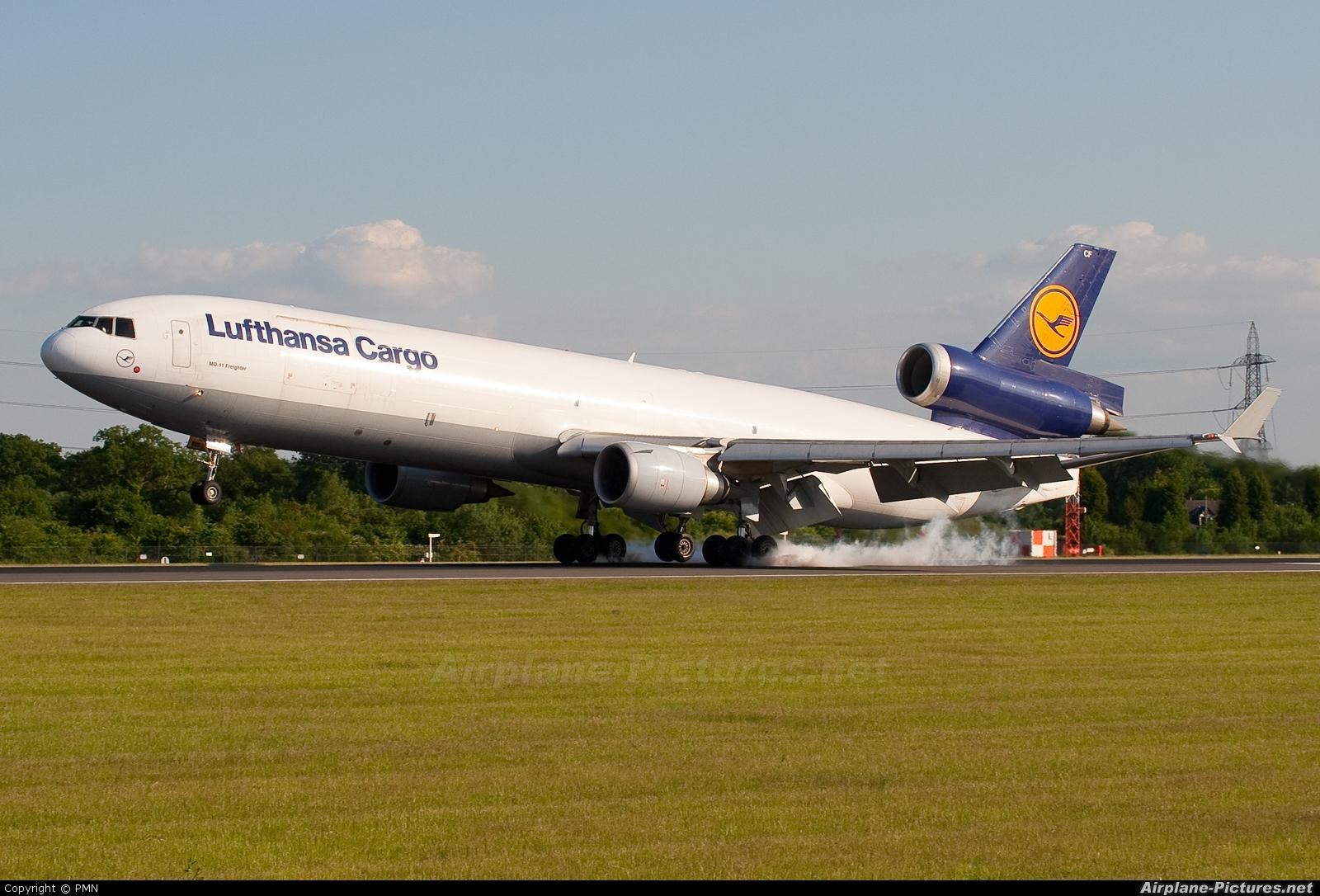 Lufthansa Cargo D-ALCF aircraft at Manchester