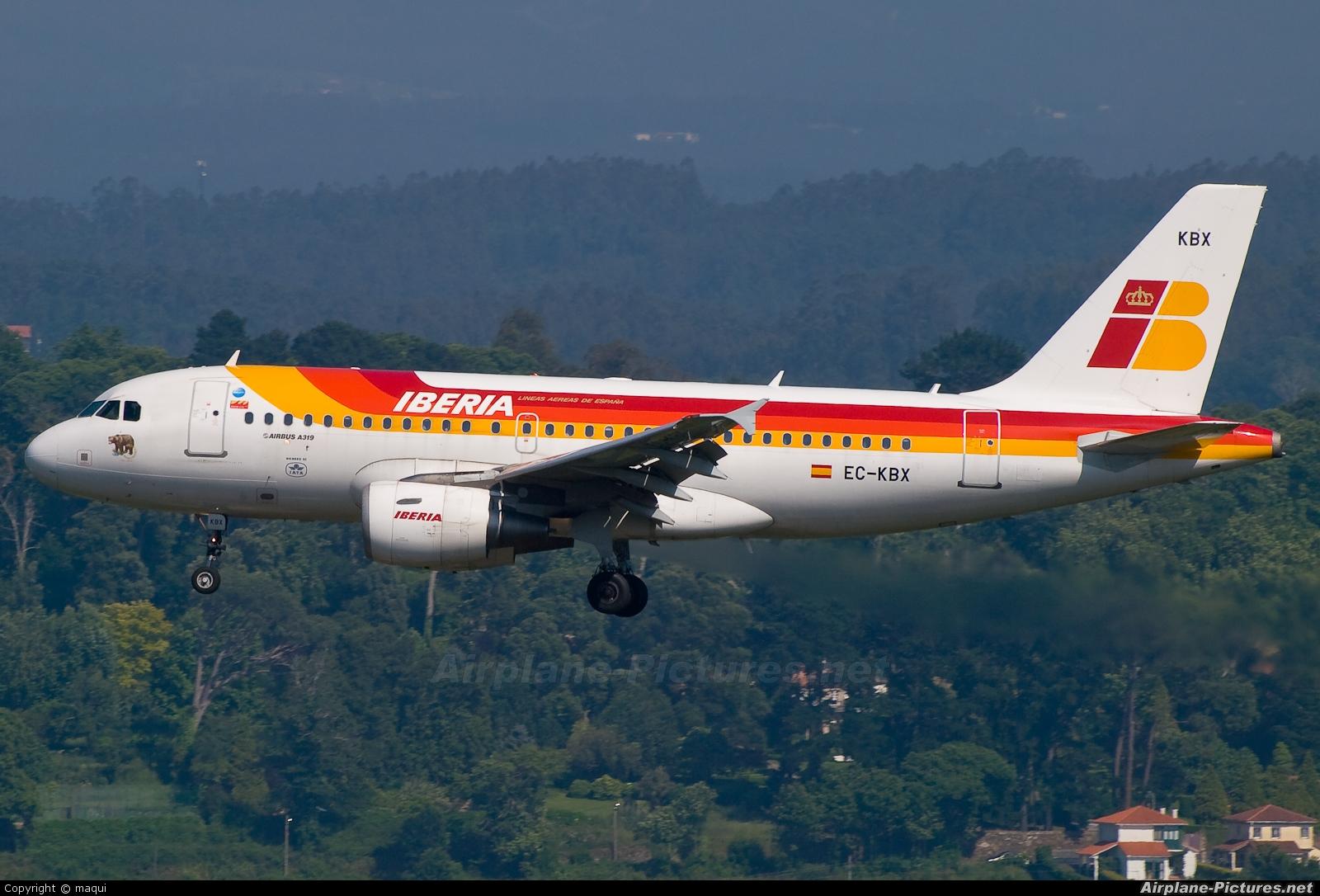 Iberia EC-KBX aircraft at La Coruña