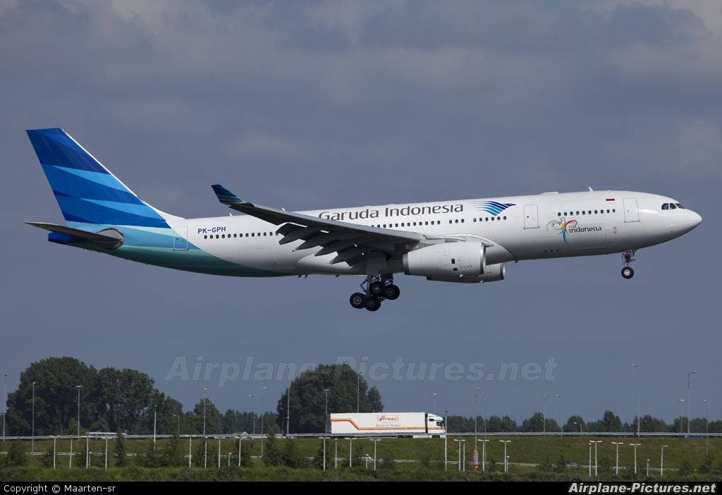 Garuda Indonesia PK-GPH aircraft at Amsterdam - Schiphol