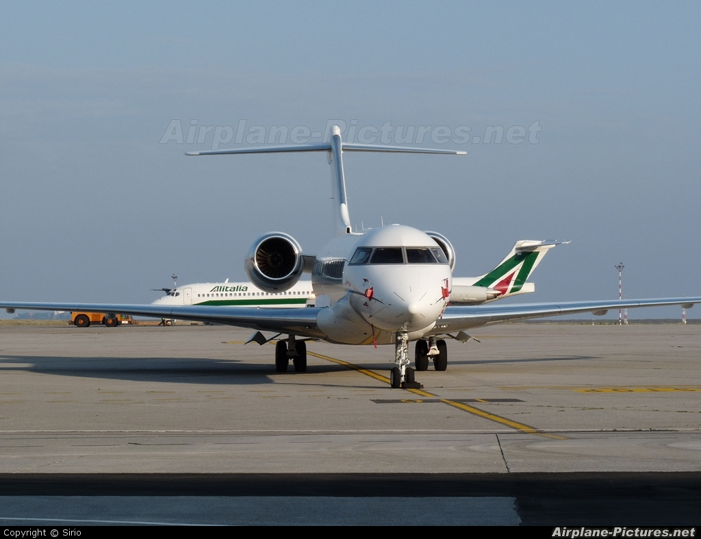 Global Jet Austria VP-CMA aircraft at Genoa - Sestri