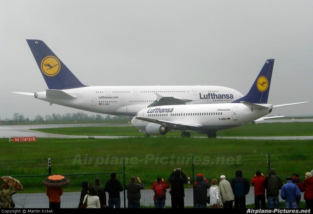 Lufthansa D-AIMA aircraft at Dresden