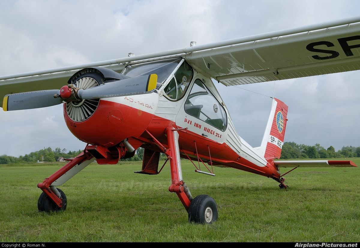 Private SP-AGE aircraft at Płock