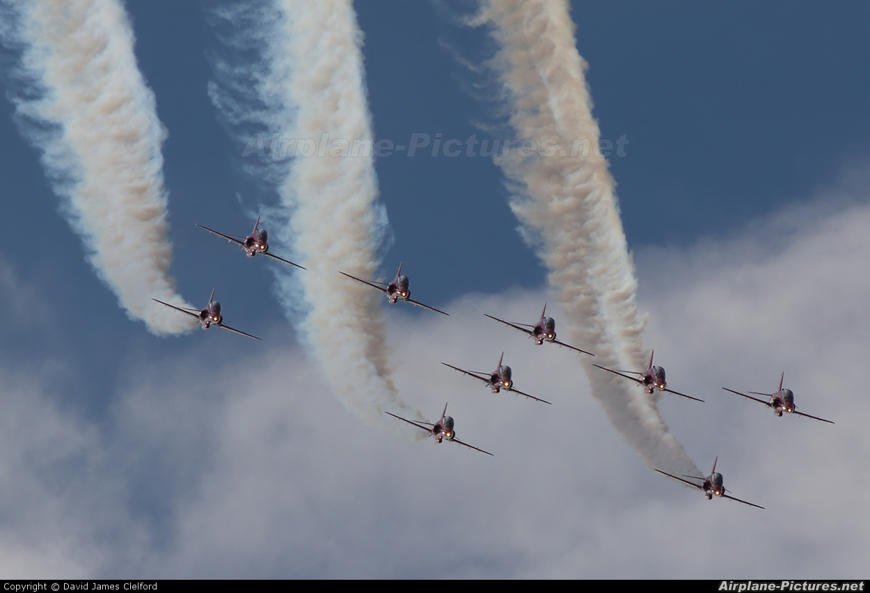 "Royal Air Force ""Red Arrows"" - aircraft at Kemble"