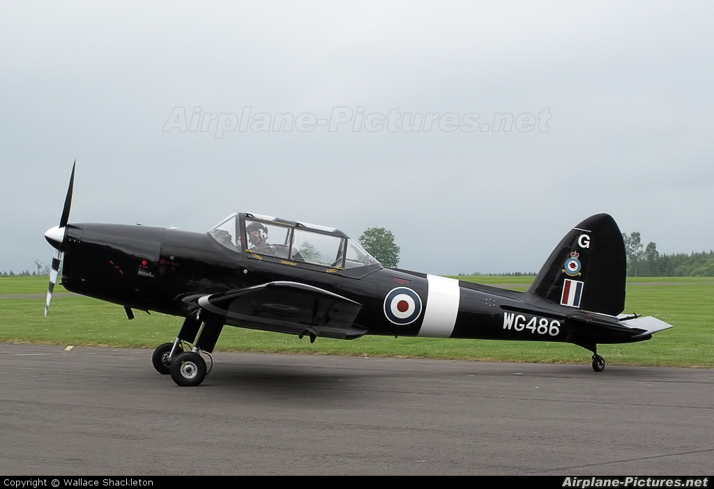 "Royal Air Force ""Battle of Britain Memorial Flight&quot WG486 aircraft at Perth - Scone"