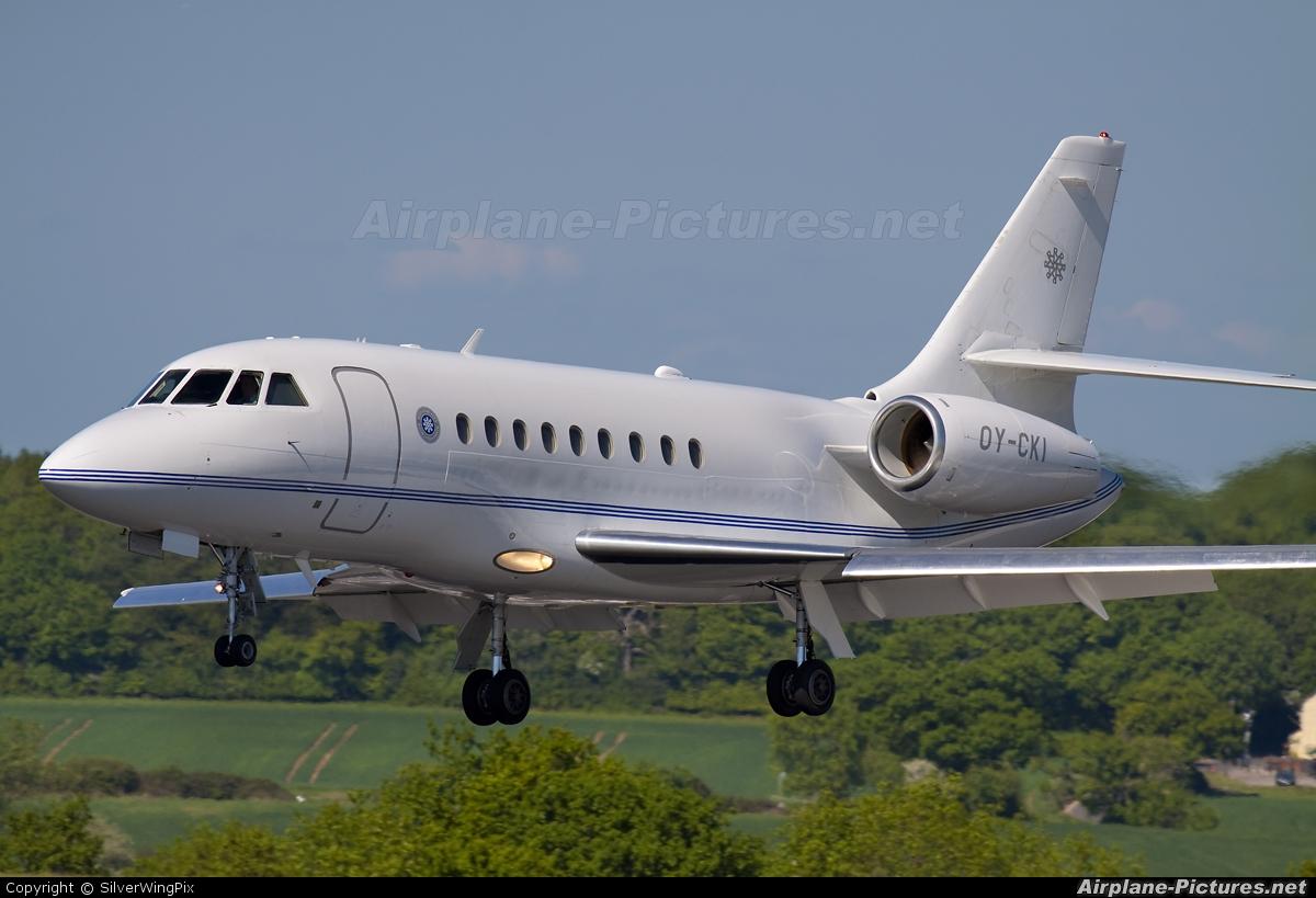 Air Alsie OY-CKI aircraft at London - Luton