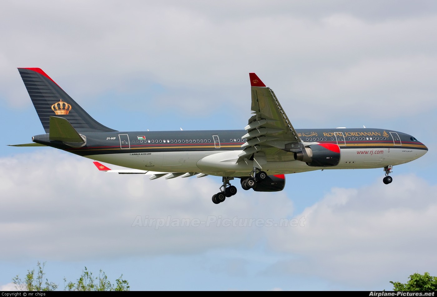 Royal Jordanian JY-AIF aircraft at London - Heathrow