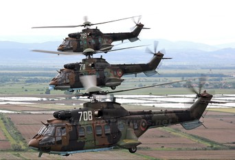 708 - Bulgaria - Air Force Aerospatiale AS532 Cougar
