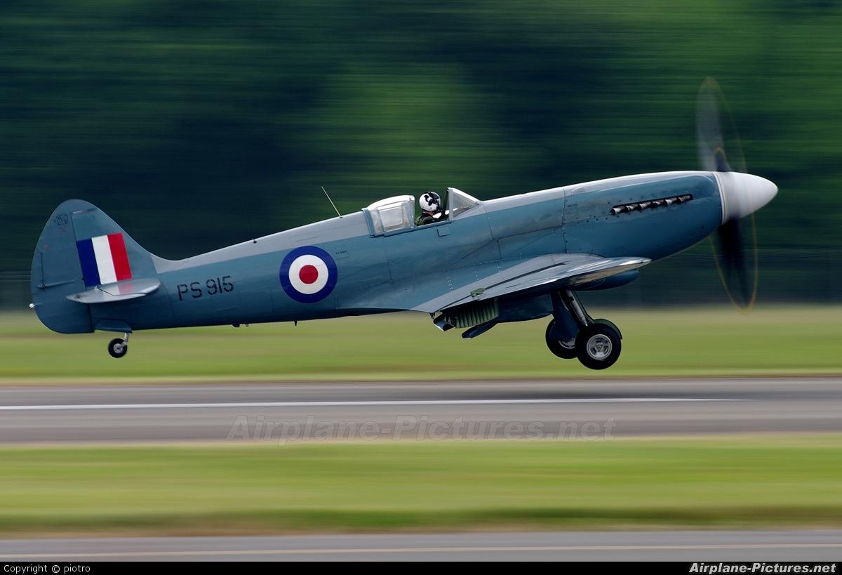 "Royal Air Force ""Battle of Britain Memorial Flight&quot PS915 aircraft at Biggin Hill"