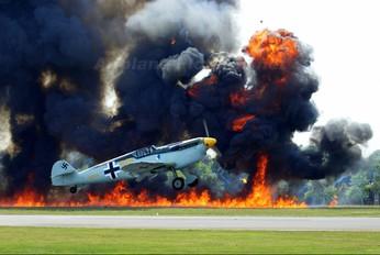 G-BWUE - Historic Flying Hispano Aviación HA-1112 Buchon