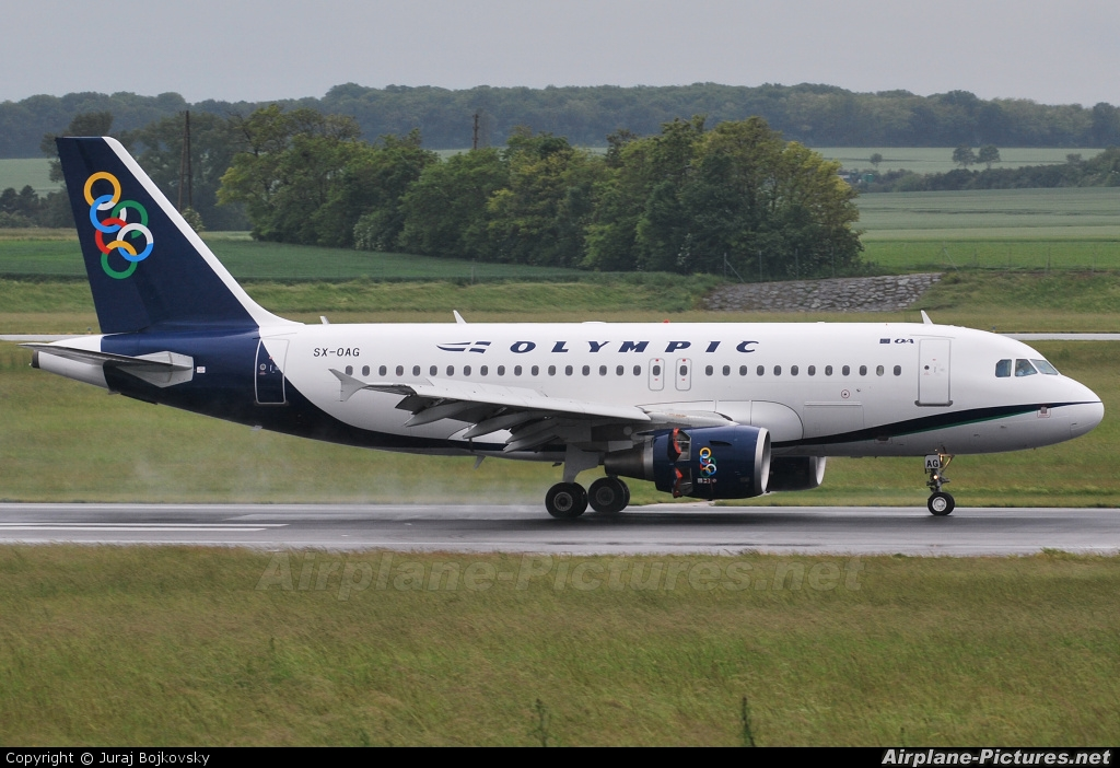 Olympic Airlines SX-OAG aircraft at Vienna - Schwechat