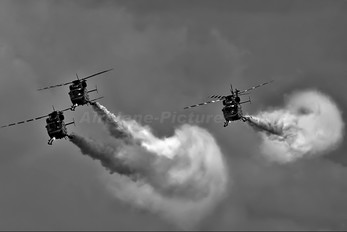 - - India - Air Force: Sarang Display Team Hindustan Dhruv