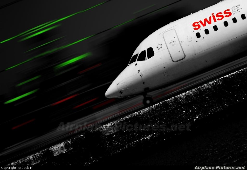 Swiss HB-IXO aircraft at London - City