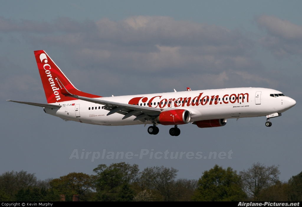 TC-TJH - Corendon Airlines Boeing 737-800 at Manchester | Photo ID ...
