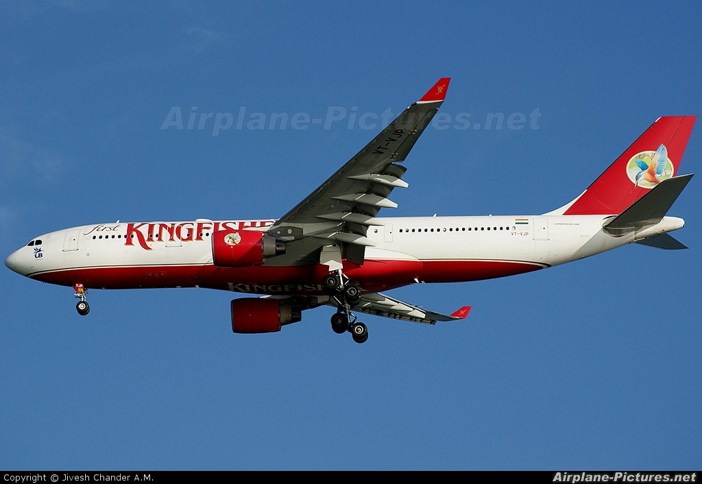 Kingfisher Airlines VT-VJP aircraft at Singapore - Changi